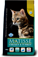 MATISSE Chicken&Turkey для Кошек,  400г