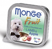 консерва Monge Dog Fruit Ягненок с Яблоком 100г